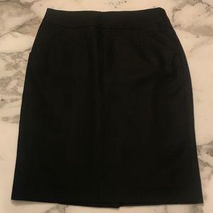 NEW J. Crew Pencil Skirt - Cotton - Black Sz 4